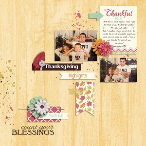 All Year Round November by Digital Scrapbook Ingredients Layout Your Day Grab Bag by Digital Scrapbook Ingredients