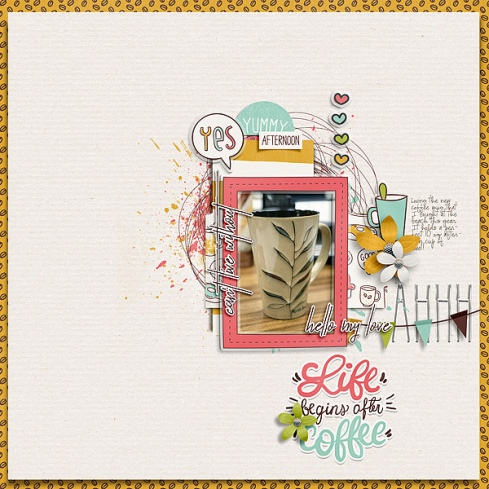 Coffee Break by Just Jaimee Storyteller 2016 November - Template Pack by Just Jaimee