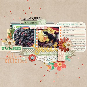 Bon Appetit - August Collection by Pixels and Company Wandering Template by Gennifer Bursett