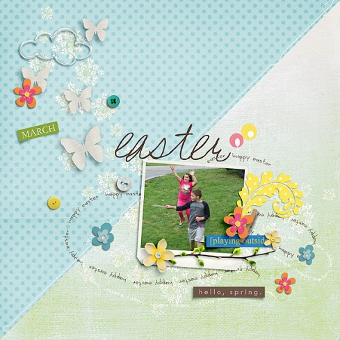 Sunshine and Daffodils Elements by Sahlin Studio Sunshine and Daffodils Papers by Sahlin Studio Snipettes: Springtime by Sahlin Studio March 2016 Sketch Template Storyteller Add-on by Just Jaimee