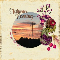 Autumn Evening by River~Rose TDP Challenge Template by Laura Passage