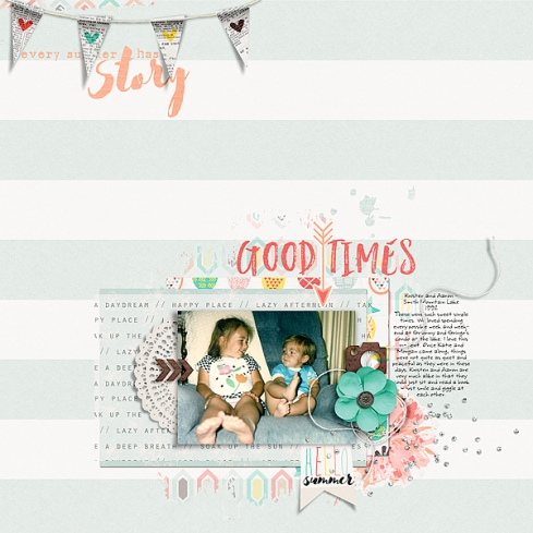 Storyteller 2016 :: Summer Stories Kit Collab - July Add-on by Just Jaimee and Sara Gleason Template and Story Starter from the Simple Scrapper Premium Membership