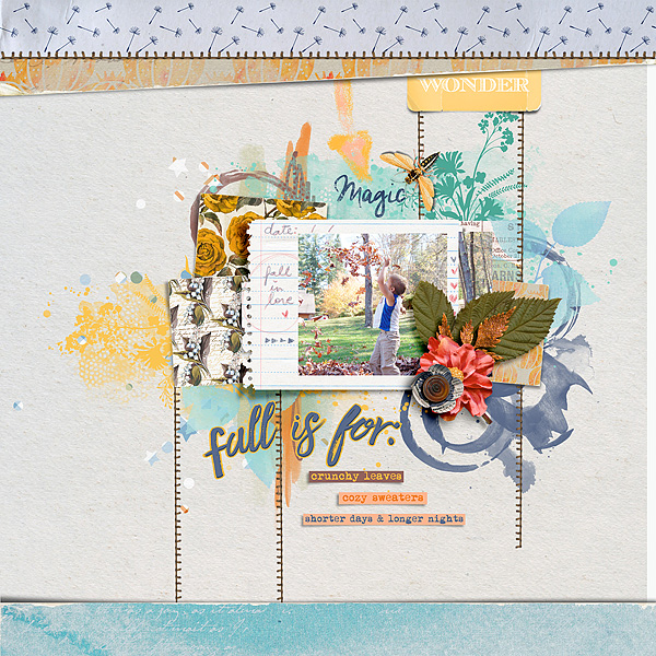 Beauti-fall Papers and Elements by Little Butterfly Wings La Vie Templates by Lynn Grieveson