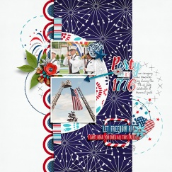 Rad, White, and Blue Collection by Bella Gypsy Can't Stop Laughing {Dressed Down} by Fiddle-Dee-Dee Designs