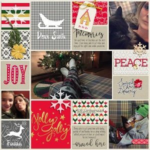 Christmas Day Bundle by Sahin Designs December 2015 Layout Templates by Sahin Designs