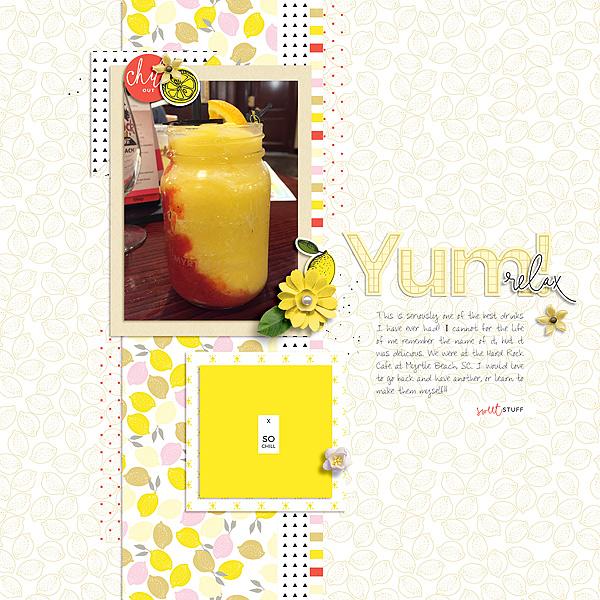 Lemonade Bundle by Sahin Designs June 2016 Layout Templates by Sahin Designs