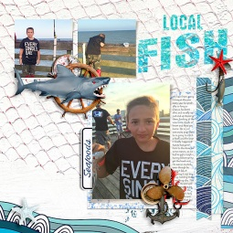 Let's Go Fishing by Paula Kesselring Template and Story Starter from Simple Scrapper Premium Membership