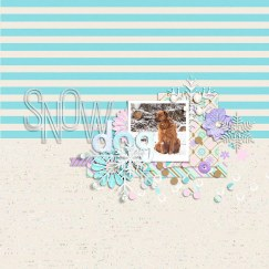 Snow Flurries by River~Rose The Great Escape Template by Anita Designs