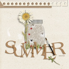 Summer Journal Mason Jars by Etc. by Danyale Kraft Papers by Etc. by Danyale Large Krafty Alpha by Etc. by Danyale