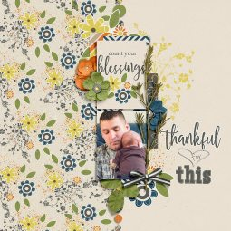 We Are Thankful by River~Rose Countdown to Christmas Templates by MEG Designs