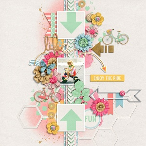 Fuss Free: Life's A Beautiful Ride 2 by Fiddle-Dee-Dee Designs  Life's A Beautiful Ride by Tickled Pink Studio