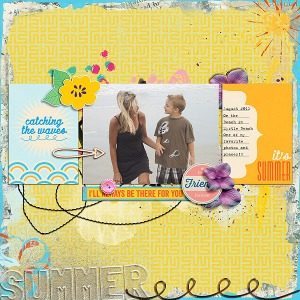 Dreams Do Come True Elements by Little Butterfly Wings Friends Mini Kit by Little Butterfly Wings Just Add Water Journal Cards by Little Butterfly Wings Just Add Water Borders by Little Butterfly Wings Freebie Template by Amy Martin