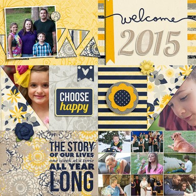 2015-Cover Pocket Life: New Year Template by Traci Reed I've Got Sunshine by Traci Reed