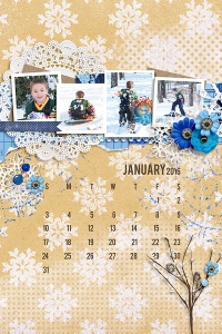 Fuss Free: Plan Ahead 2016 by Fiddle-Dee-Dee Getting Artsy: Winter Blues by Cluster Queen Creations
