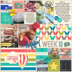 Pocket Life '15: March Collection by Traci Reed 365Unscripted Plastic Stitched Grids Bundle by Traci Reed