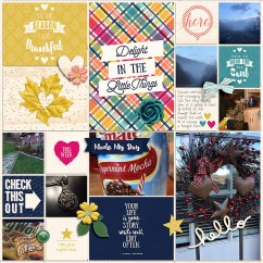 Pocket LIfe '15: November Collection by Traci Reed 365 Unscripted Plastic Stitched Grids Bundle by Traci Reed