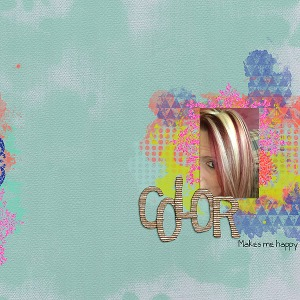 Painted Canvas Papers, Corrugated Alpha, and Finishing Touches Elements by Amy Wolff