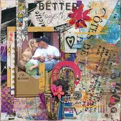 Junque Journal Love Note Collab Bundle by Etc. by Danyale and Studio Basic February 2018 Challenge Template by Tangie Baxter