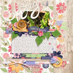 Signs of Spring by Blagovesta Gosheva & River Rose Designs Lots to Say V2 Templates by Crystal Livesay
