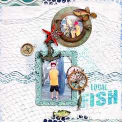 Let's Go Fishing by Paula Kesselring The Fun Begins Template by Lynn Grieveson