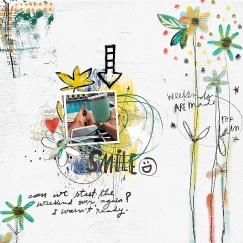 Weekend Stories Papers by Little Butterfly Wings Weekend Stories Elements by Little Butterfly Wings Weekend Stories (words & more) by Little Butterfly Wings Inked Layered Template 01 by Rachel Jefferies