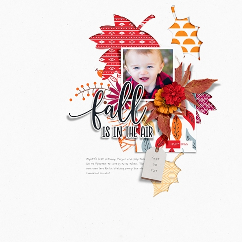 Falling Leaves Mini Kit by Designed by Soco Falling Leaves Templates by Designed by Soco