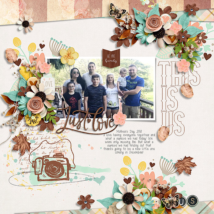 This is Us Collection by River~Rose and Studio Basic Picture Perfect by Crystal Livesay and Heartstrings Scrap Art