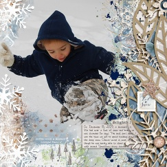 Creekside Elements by Lynn Grieveson Creekside Papers by Lynn Grieveson Winter Paint by Lynn Grieveson Frosty Leaves Templates by Scrapping with Liz
