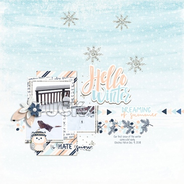 Snow Time Mini Theme Kit - Storyteller 2019 January Add-on by Just Jaimee Clean and Simple n31 by Sabrina's Creations
