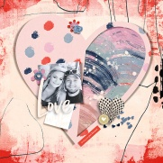 Make Art and Journal by Rachel Jefferies Hearts Galore by Scrapping with Liz