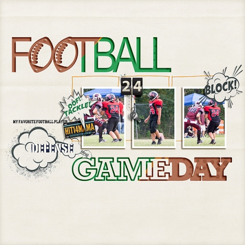 Football Cut Outs by Scrapping with Liz Friday Night Lights by Forever Joy Designs Sprung Templates by Pink Reptile Designs