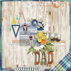 #1 Dad: Collection by River~Rose Designs iNSD 2019 Template Grab Bag by Crystal Livesay and Sara Gleason